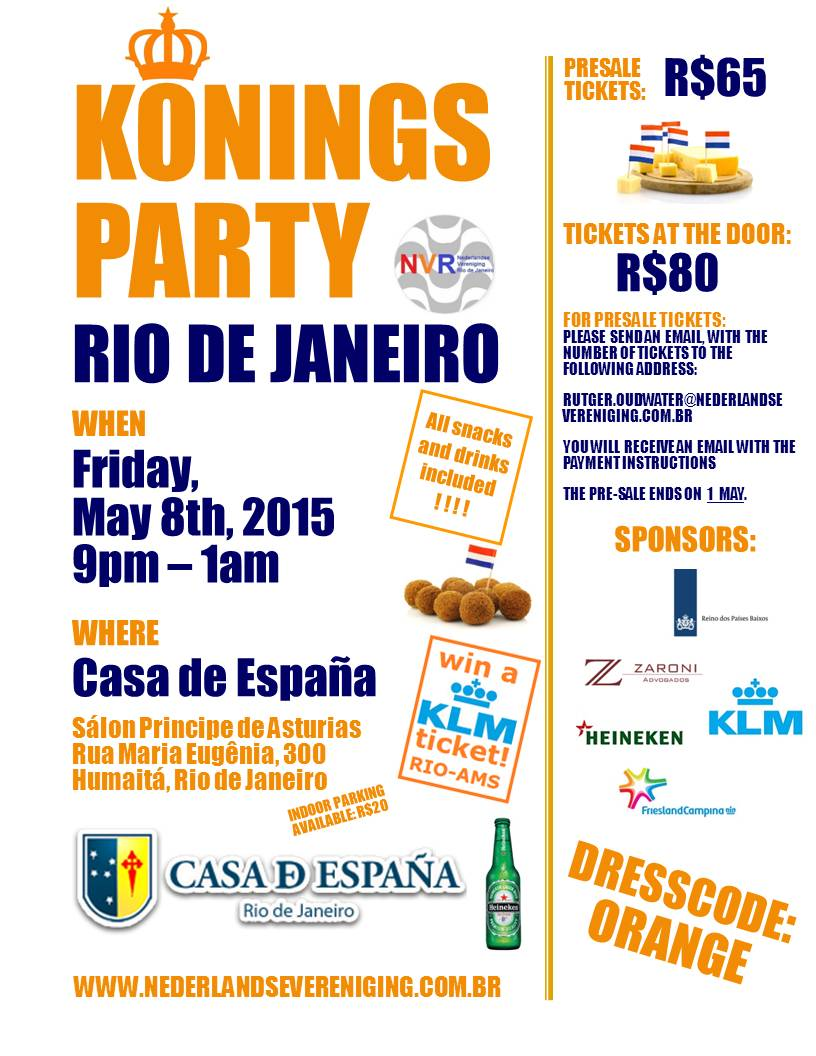 Flyer Koningsparty 2015